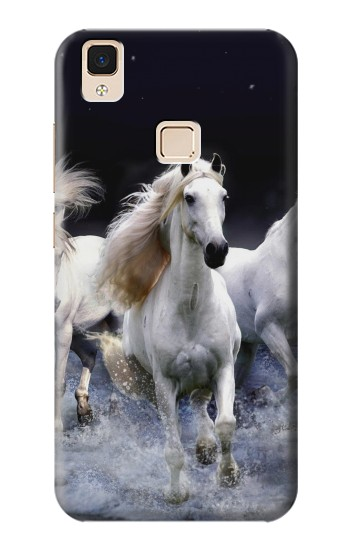 Printed White Horse Apple iPad Air Case