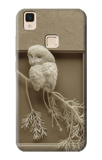 Printed Paper Sculpture Owl Apple iPad Air Case