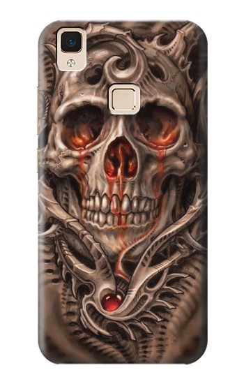 Printed Skull Blood Tattoo Apple iPad Air Case