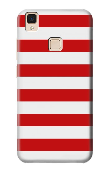 Printed Red and White Striped Apple iPad Air Case