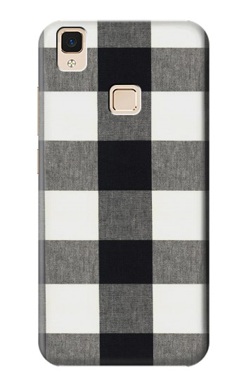 Printed Black and White Buffalo Check Pattern Apple iPad Air Case
