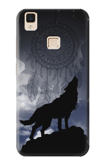 Printed Dream Catcher Wolf Howling Apple iPad Air Case