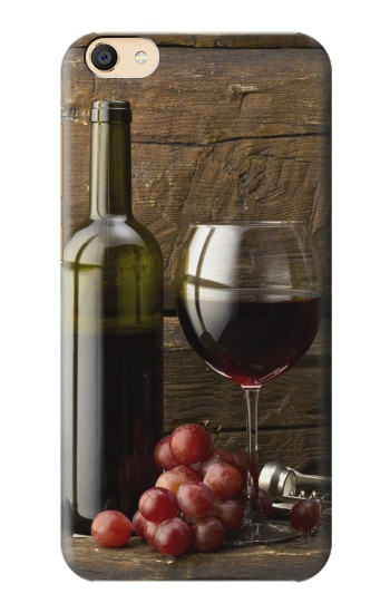 Printed Grapes Bottle and Glass of Red Wine Apple iPad mini 3 Case