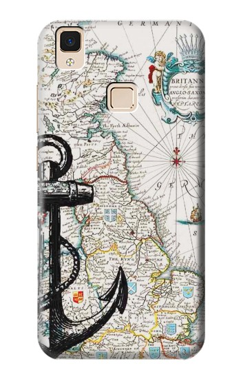 Printed Nautical Chart Apple iPad 3 / 4 Case