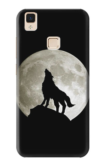 Printed Wolf Howling at The Moon Apple iPad 3 / 4 Case