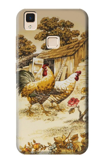 Printed French Country Chicken Apple iPad 3 / 4 Case