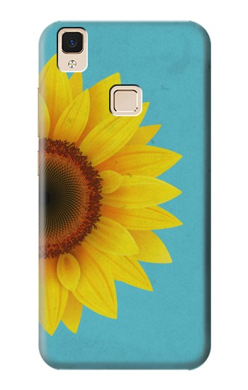 Printed Vintage Sunflower Blue Apple iPad 3 / 4 Case