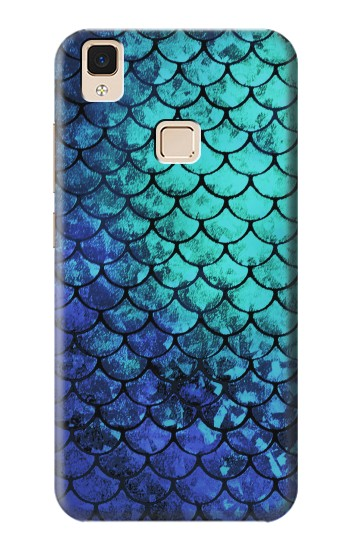 Printed Green Mermaid Fish Scale Apple iPad 3 / 4 Case