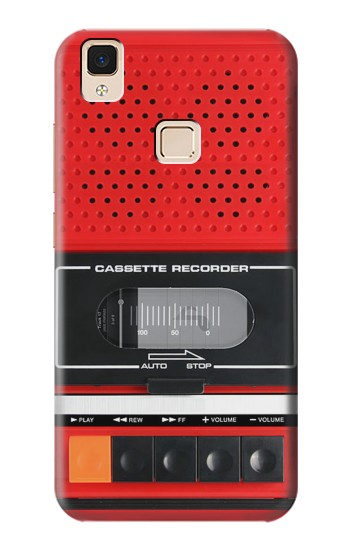 Printed Red Cassette Recorder Graphic Apple iPad 3 / 4 Case