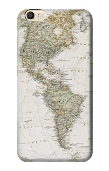 Printed World Map alcatel Pop S9 Case