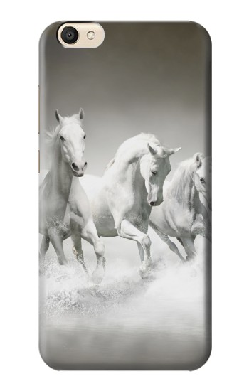 Printed White Horses alcatel Pop S9 Case