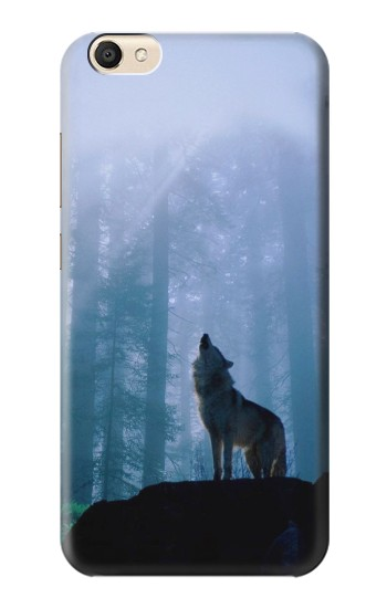 Printed Wolf Howling in Forest alcatel Pop S9 Case