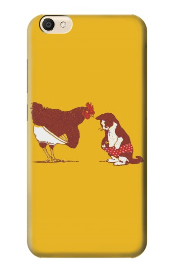 Printed Rooster and Cat Joke alcatel Pop S9 Case