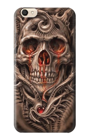 Printed Skull Blood Tattoo alcatel Pop S9 Case