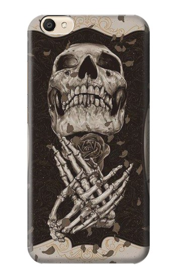 Printed Skull Rose alcatel Pop S9 Case