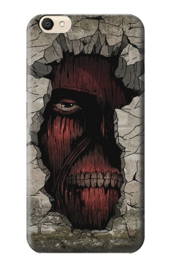 Printed Attack on Titan Zombie Titan in the Wall alcatel Pop S9 Case