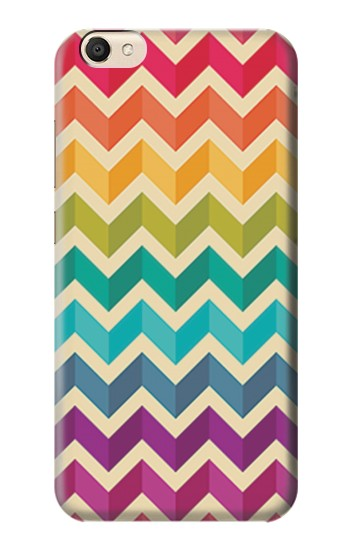 Printed Rainbow Colorful Shavron Zig Zag Pattern alcatel Pop S9 Case
