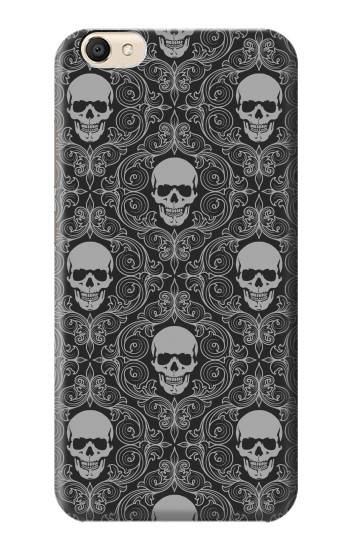 Printed Skull Vintage Monochrome Pattern alcatel Pop S9 Case