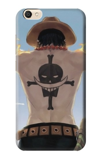 Printed One Piece Ace Back Whitebeard Pirates Tattoo alcatel Pop S9 Case