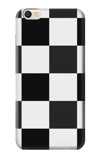 Printed Black and White Checkerboard alcatel Pop S9 Case