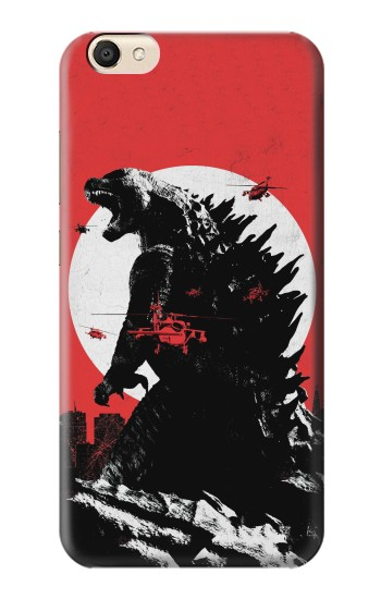 Printed Godzilla Japan Flag alcatel Pop S9 Case