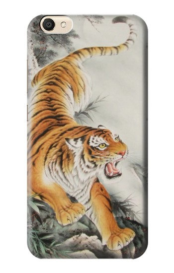 Printed Chinese Tiger Tattoo Painting alcatel Pop S9 Case