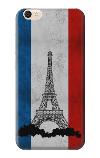 Printed Vintage France Flag Eiffel Tower alcatel Pop S9 Case