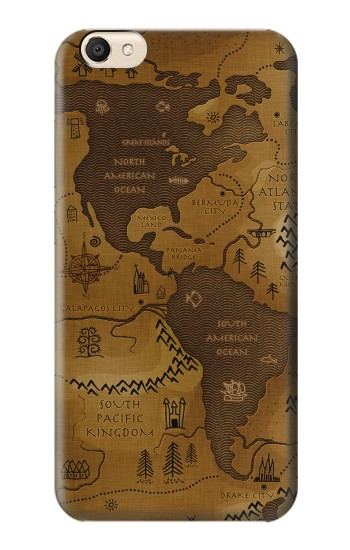 Printed Antique Style Map alcatel Pop S9 Case