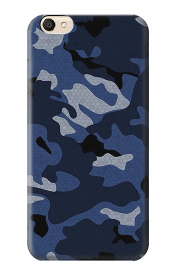 Printed Navy Blue Camouflage alcatel Pop S9 Case