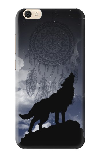 Printed Dream Catcher Wolf Howling alcatel Pop S9 Case