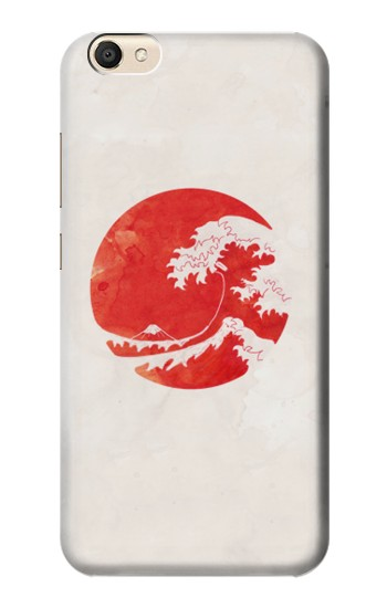 Printed Waves Japan Flag alcatel Pop S9 Case