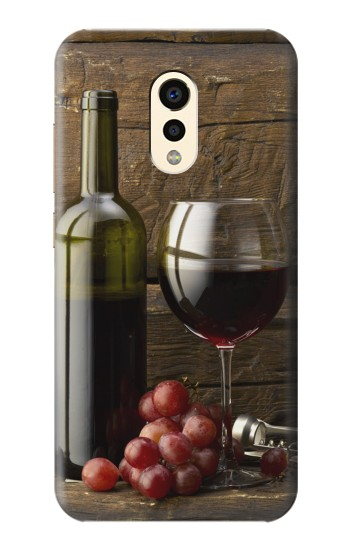Printed Grapes Bottle and Glass of Red Wine Apple iPad Air 2 Case