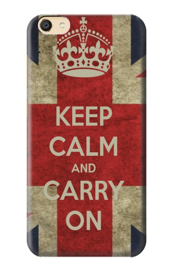 Printed Keep Calm and Carry On Apple iPad Mini 4 Case