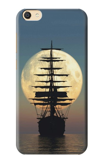Printed Pirate Ship Moon Night Apple iPad Mini 4 Case