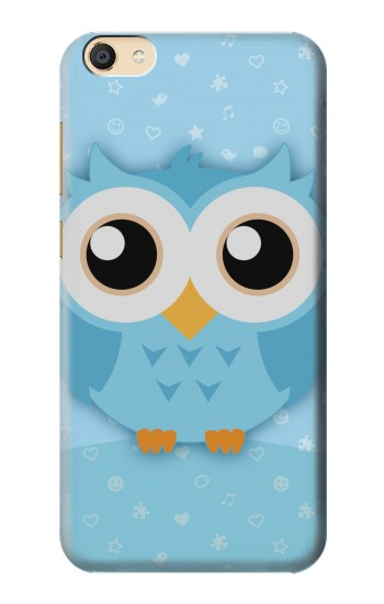 Printed Cute Blue Owl Apple iPad Mini 4 Case