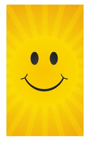 Printed Yellow Sun Smile Apple Watch Band (40mm) Case