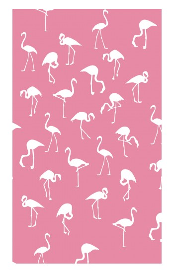 Printed Pink Flamingo Pattern Apple Watch Band (40mm) Case