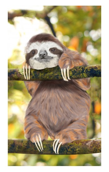 Printed Cute Baby Sloth Paint Apple Watch Band (40mm) Case