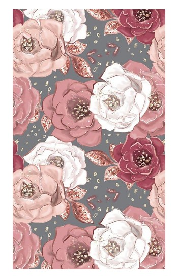Printed Rose Floral Pattern Apple Watch Band (40mm) Case