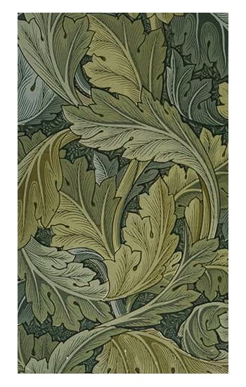 Printed William Morris Acanthus Leaves Apple Watch Band (40mm) Case