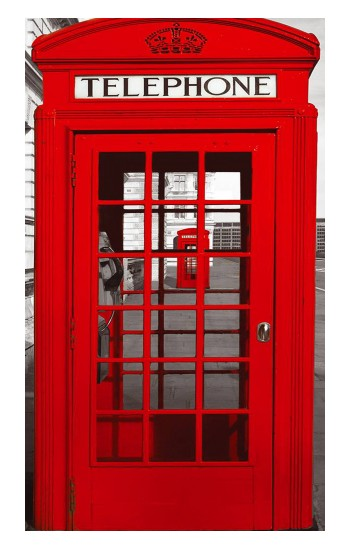 Printed Classic British Red Telephone Box Apple Watch Band (44mm) Case