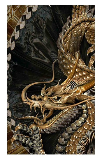 Printed Gold Dragon Apple Watch Band (44mm) Case