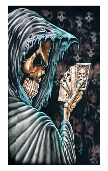Printed Grim Reaper Death Poker Apple Watch Band (44mm) Case