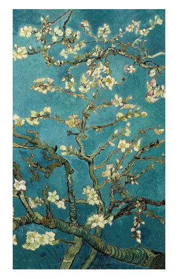 Printed Blossoming Almond Tree Van Gogh Apple Watch Band (44mm) Case