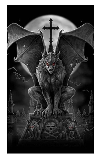 Printed Gargoyle Devil Demon Apple Watch Band (44mm) Case