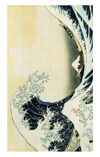 Printed Katsushika Hokusai The Great Wave of Kanagawa Apple Watch Band (44mm) Case