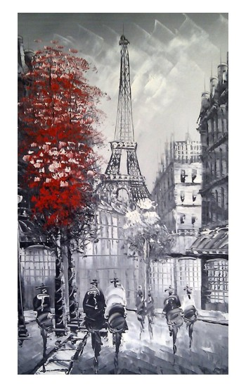 Printed Eiffel Painting of Paris Apple Watch Band (44mm) Case