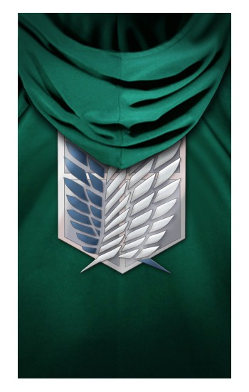 Printed Attack on Titan Scouting Legion Rivaille Green Cloak Apple Watch Band (44mm) Case