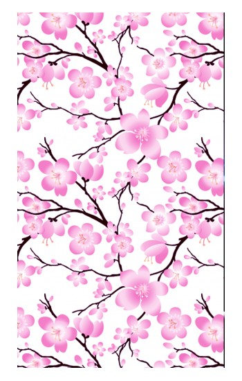 Printed Sakura Cherry Blossoms Apple Watch Band (44mm) Case