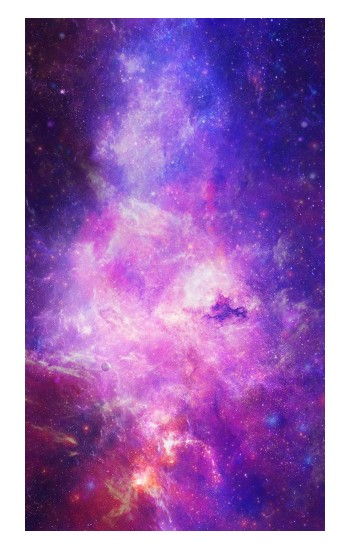 Printed Milky Way Galaxy Apple Watch Band (44mm) Case